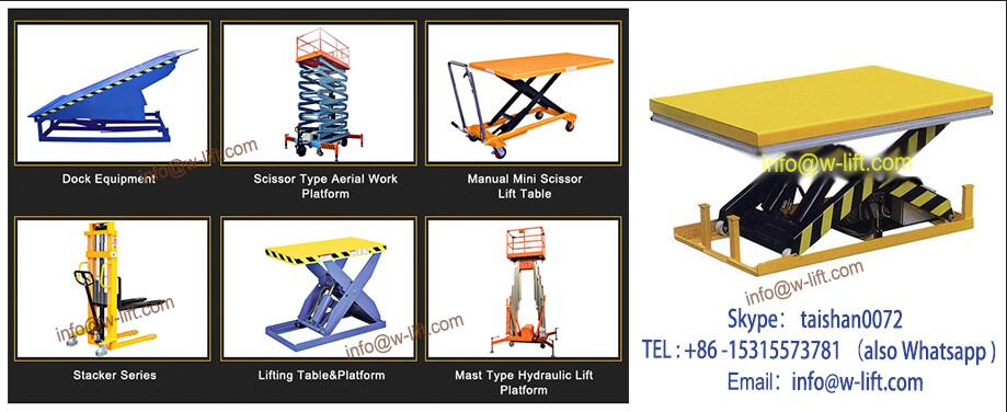 Fixed/stationary small platform scissor lift for sale