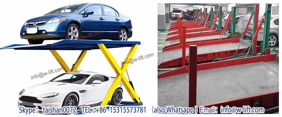 Two levels double deck Vertical car lift parking system