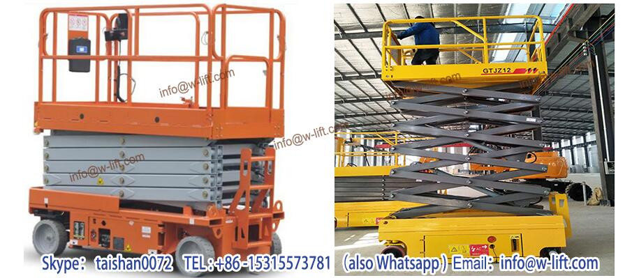 Factory direct sale hydraulic aerial work platform self-propelled boom lift