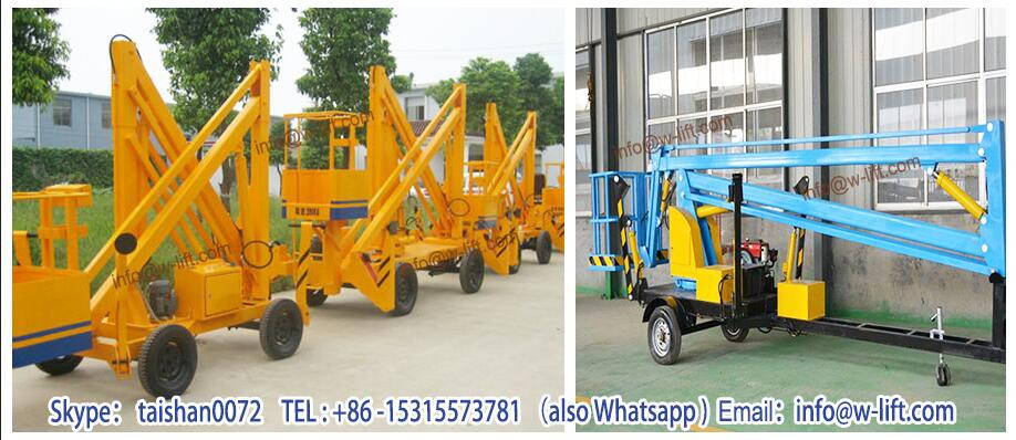 hydraulic articulated trailer mounted boom lift