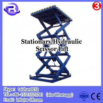 China manufacture hydraulic stationary scissor construction platform lift price