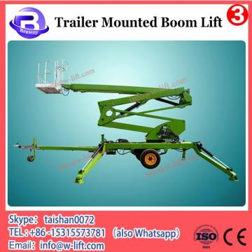 Factory sale towable boom lift, trailer mounted cherry picker man lift for sale