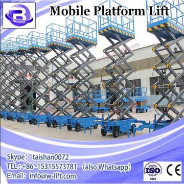 Hot sale 12m warehouse factory home mobile hydraulic scissor platform lift/electric mobile scissor lift