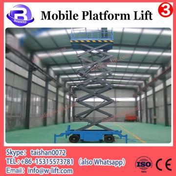 Rail lifting platform four-wheel mobile