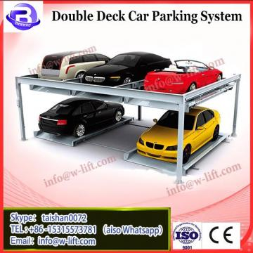 Underground double deck hydraulic scissor lift parking system