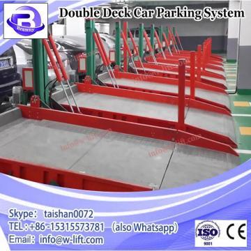 Double deck car underground garage parking system
