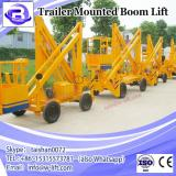 Trailer mounted towable spider boom lift table with diesel engine