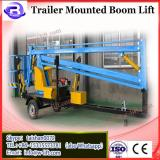 14m Battery trailer boom lift/trailer mounted boom lift price