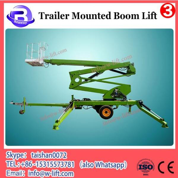 Truck mounted trailer small boom lift crane #2 image
