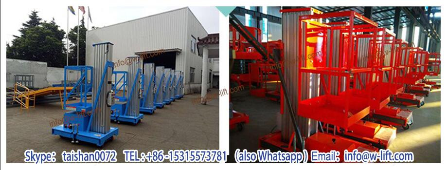 Hot sale single/double mast aluminum alloy lift platform / aerial working one man platform lift