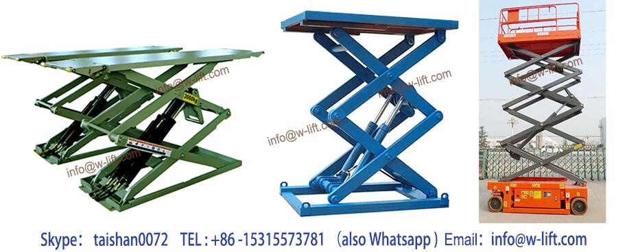 7m Mini mobile scissor lift used small Spower hydraulic scissor car lift with CE