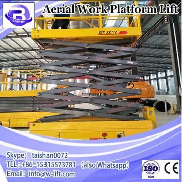 Best quality scissor aerial work platform one man lift elevator manual mobile scissor lift