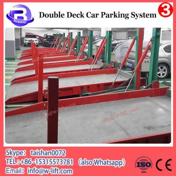 Double-deck car underground parking lift system