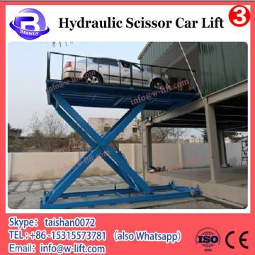 ground car parking lift stationary scissor car lifting equipment, hydraulic car scissor lift with cheap price