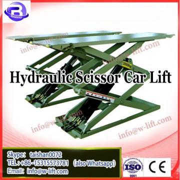 Hydraulic scissor car lift with garage in ground