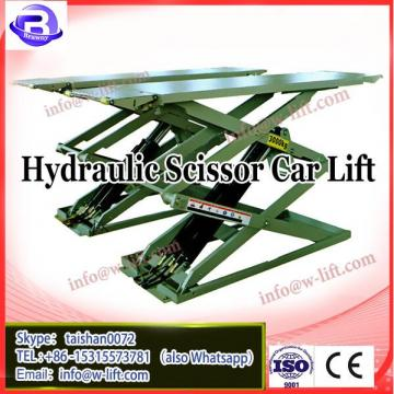 ultra-thin wheel alignment auto scissor lift on the ground