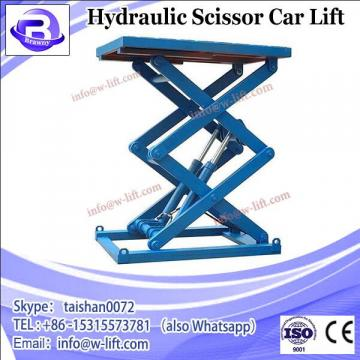 Car scissor lift in ground mounted