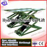 CE car alignment scissor lift, four hydraulic cylinder no need pit installment