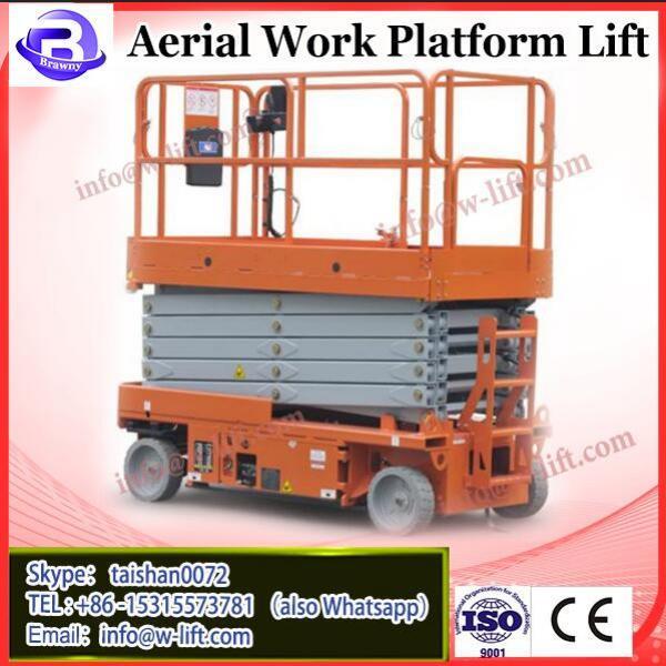 Mobile electric three mast hydraulic telescopic aluminum vertical man lift #2 image