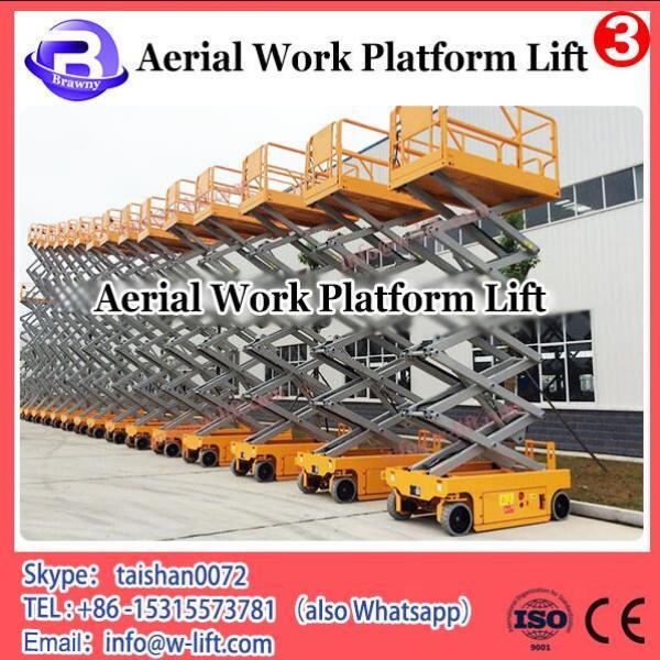 Mobile electric three mast hydraulic telescopic aluminum vertical man lift #1 image