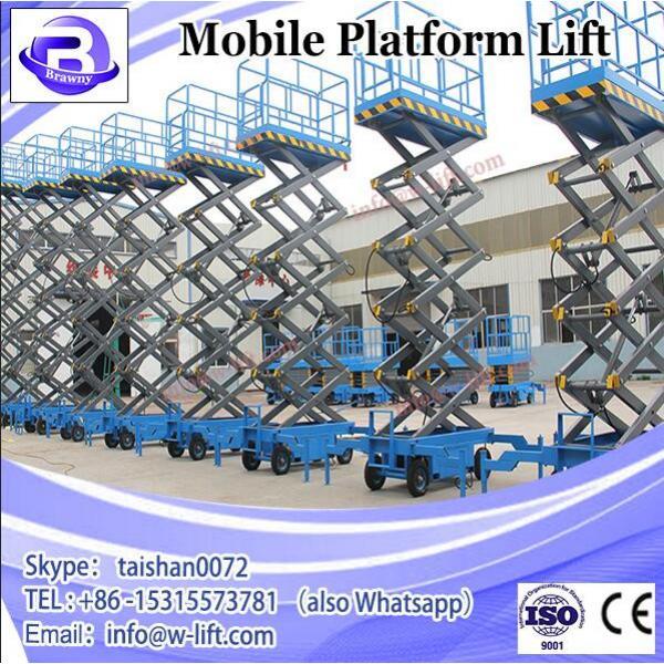 Mobile self-propelled hydraulic aluminum aerial work platform lift #3 image