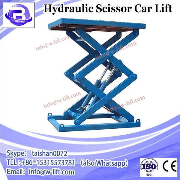 Portable hydraulic scissor car lift 220V, scissor lift china #2 image
